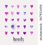 a collection of love hearts in... | Shutterstock .eps vector #567921454
