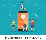 health care mobile app concept... | Shutterstock .eps vector #567927940