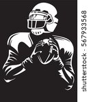 american football player.... | Shutterstock .eps vector #567933568
