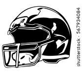 american football helmet... | Shutterstock .eps vector #567934084