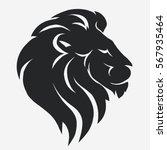 Lion Logo. Black Mascot Head ...