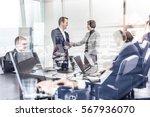 sealing a deal. business people ... | Shutterstock . vector #567936070