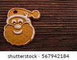 Gingerbread Head Santa Claus