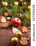 gingerbread and christmas... | Shutterstock . vector #567945658