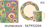 hand drawn colorful pattern... | Shutterstock .eps vector #567952204