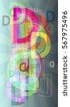 d alphabet template texture | Shutterstock .eps vector #567975496