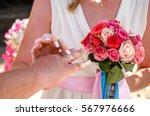beach wedding ceremony   Shutterstock . vector #567976666