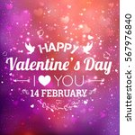 happy valentines day greeting... | Shutterstock .eps vector #567976840