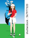 Female Golf Player.vector...
