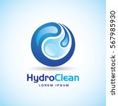 hydro clean logo sign symbol... | Shutterstock .eps vector #567985930