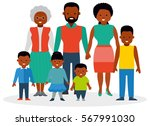 a big family with children and... | Shutterstock .eps vector #567991030