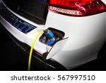 electric car charging energy in ... | Shutterstock . vector #567997510