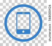 smartphone rounded icon. vector ... | Shutterstock .eps vector #568000426