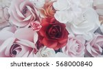 Stock photo in the middle of a red rose petals close up floral background many rose background 568000840