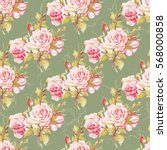 seamless floral pattern with... | Shutterstock .eps vector #568000858
