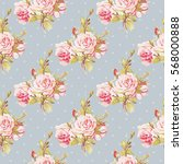 seamless floral pattern with... | Shutterstock .eps vector #568000888