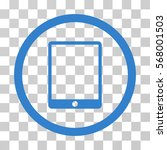 mobile tablet rounded icon.... | Shutterstock .eps vector #568001503