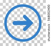arrow right rounded icon.... | Shutterstock .eps vector #568002400