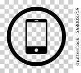 smartphone rounded icon. vector ... | Shutterstock .eps vector #568003759