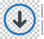 arrow down rounded icon. vector ... | Shutterstock .eps vector #568006570