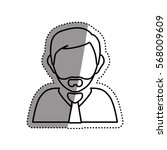 businessman executive profile... | Shutterstock .eps vector #568009609