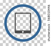 mobile tablet rounded icon.... | Shutterstock .eps vector #568010446