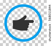 index hand rounded icon. vector ...