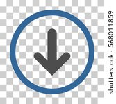 arrow down rounded icon. vector ... | Shutterstock .eps vector #568011859