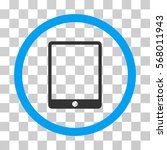mobile tablet rounded icon.... | Shutterstock .eps vector #568011943