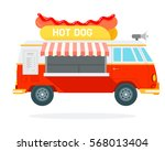 hot dog track vector flat... | Shutterstock .eps vector #568013404