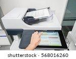 woman start document scanning... | Shutterstock . vector #568016260