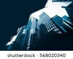 modern architecture monochrome... | Shutterstock . vector #568020340