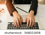 business documents on office... | Shutterstock . vector #568021858