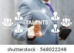 Stock photo talents search business team social media network web computer concept human resorces employee 568022248