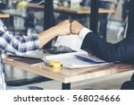 partner business trust teamwork ... | Shutterstock . vector #568024666