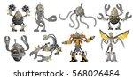 Eight Powerful Battle Robots...