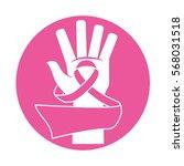 emblem breast cancer ribbon in... | Shutterstock .eps vector #568031518