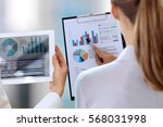 business colleagues working and ... | Shutterstock . vector #568031998