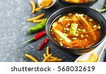 hot and sour soup.   Shutterstock . vector #568032619
