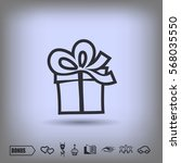 pictograph of gift | Shutterstock .eps vector #568035550