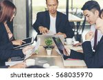 business team conference. team... | Shutterstock . vector #568035970