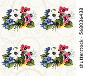 seamless floral pattern with...   Shutterstock .eps vector #568036438