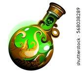 green liquid in a bottle... | Shutterstock .eps vector #568038289