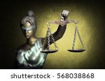 lady justice on golden... | Shutterstock . vector #568038868