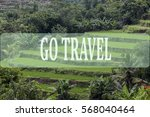 go travel concept with bali's... | Shutterstock . vector #568040464