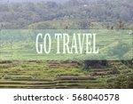 go travel concept with bali's... | Shutterstock . vector #568040578