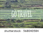 go travel concept with bali's... | Shutterstock . vector #568040584