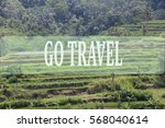 go travel concept with bali's... | Shutterstock . vector #568040614