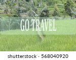 go travel concept with bali's... | Shutterstock . vector #568040920