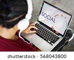 digital community digital... | Shutterstock . vector #568043800